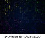 dark blue background with... | Shutterstock . vector #643698100