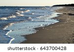 Stock photo overlapping waves at the beach on hilton head island south carolina 643700428