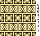 abstract art deco golden... | Shutterstock .eps vector #643704460