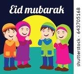 eid kareem   mubarak  full of... | Shutterstock .eps vector #643705168