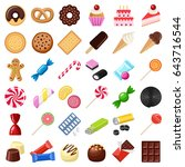 cookie and candy collection  ...   Shutterstock .eps vector #643716544