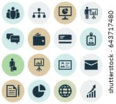 job icons set. collection of... | Shutterstock .eps vector #643717480