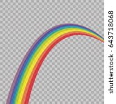 abstract rainbow colored on... | Shutterstock .eps vector #643718068