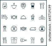 meal food icons set. collection ... | Shutterstock .eps vector #643719199