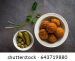 a popular arabic snack  ... | Shutterstock . vector #643719880