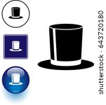 top hat symbol sign and button   Shutterstock .eps vector #643720180