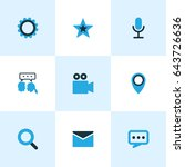 social colorful icons set.... | Shutterstock .eps vector #643726636