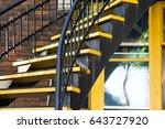 yellow stairs   Shutterstock . vector #643727920