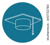 hat graduation isolated icon | Shutterstock .eps vector #643732783