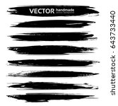black thick long smears vector... | Shutterstock .eps vector #643733440