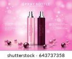 spray bottle isolated on pink... | Shutterstock .eps vector #643737358