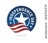 independence day usa flag... | Shutterstock .eps vector #643741579