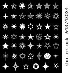 star icons on a black... | Shutterstock .eps vector #643743034