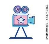 short film lights video camera... | Shutterstock .eps vector #643743568