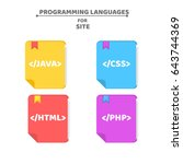 a pattern from programming... | Shutterstock .eps vector #643744369
