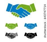 handshake logo template | Shutterstock .eps vector #643747714