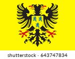 flag of cambrai is a commune in ... | Shutterstock .eps vector #643747834
