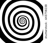 vector spiral  background.... | Shutterstock .eps vector #643758238