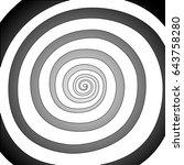 vector spiral  background.... | Shutterstock .eps vector #643758280