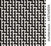 seamless woven stripes lattice... | Shutterstock .eps vector #643764034