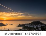 a beautiful sunrise at lindos ...   Shutterstock . vector #643764934