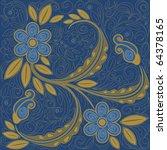 Denim Stitching Floral...