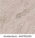 topographic map  vector... | Shutterstock .eps vector #643781650