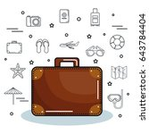 colorful suitcase design | Shutterstock .eps vector #643784404
