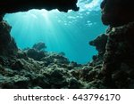 underwater sunlight through... | Shutterstock . vector #643796170