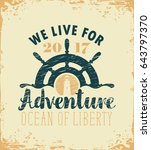 vector travel banner with ships ... | Shutterstock .eps vector #643797370