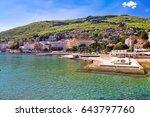 adriatic town of opatija... | Shutterstock . vector #643797760