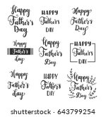 happy fathers day greeting card.... | Shutterstock .eps vector #643799254