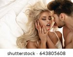 romantic style portrait of a... | Shutterstock . vector #643805608