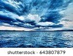 Lake storm, hdr style - stock photo