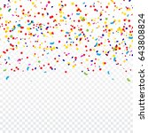 colorful confetti falling on... | Shutterstock .eps vector #643808824