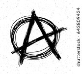 anarchy sign hand drawn sketch. ... | Shutterstock .eps vector #643809424