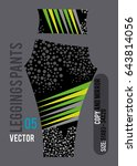 leggings pants fashion vector... | Shutterstock .eps vector #643814056