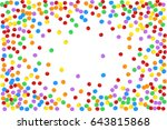 colorful multicolored confetti. ... | Shutterstock .eps vector #643815868