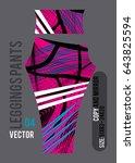 leggings pants fashion vector... | Shutterstock .eps vector #643825594
