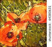 Art Stylization Floral Grunge...