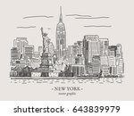 new york city retro vintage...   Shutterstock .eps vector #643839979