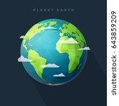 polygonal planet earth  western ... | Shutterstock .eps vector #643859209