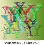 alphabet y elements pattern | Shutterstock .eps vector #643859914