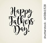 happy father's day. typography... | Shutterstock .eps vector #643861528