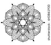 mandalas for coloring book.... | Shutterstock .eps vector #643861930