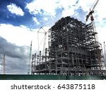 construction of the power plant ... | Shutterstock . vector #643875118
