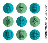 eco friendly object icons | Shutterstock .eps vector #643879654