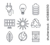 eco friendly objects set | Shutterstock .eps vector #643880050
