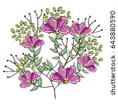 beautiful flowers design | Shutterstock .eps vector #643880590