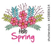 welcome spring design | Shutterstock .eps vector #643880614